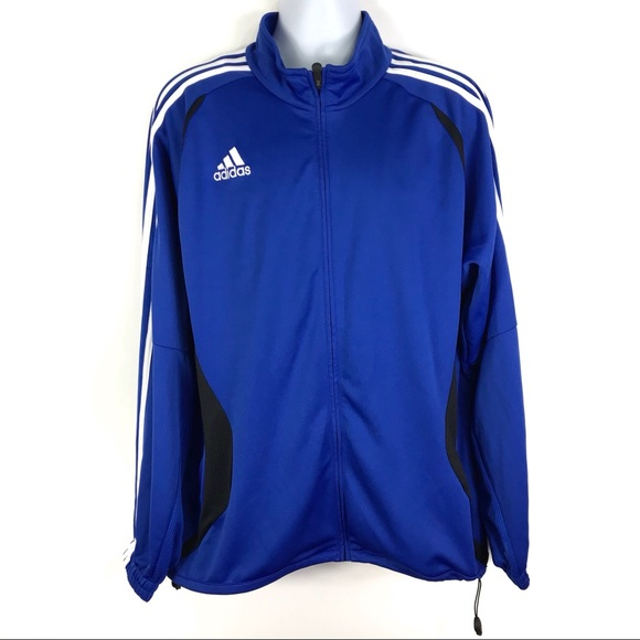 Details about Adidas Royal Blue Full Zip Athletic Jacket